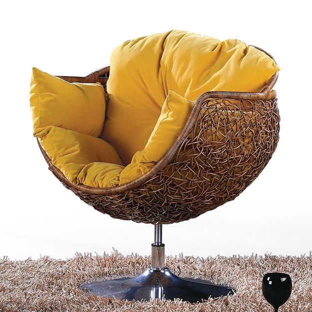 Fotoliu cu pernuta minion yellow