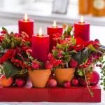 Flori și plante naturale în aranjamente de iarnă