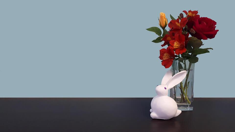 Flori artificiale cu motiv Pascal